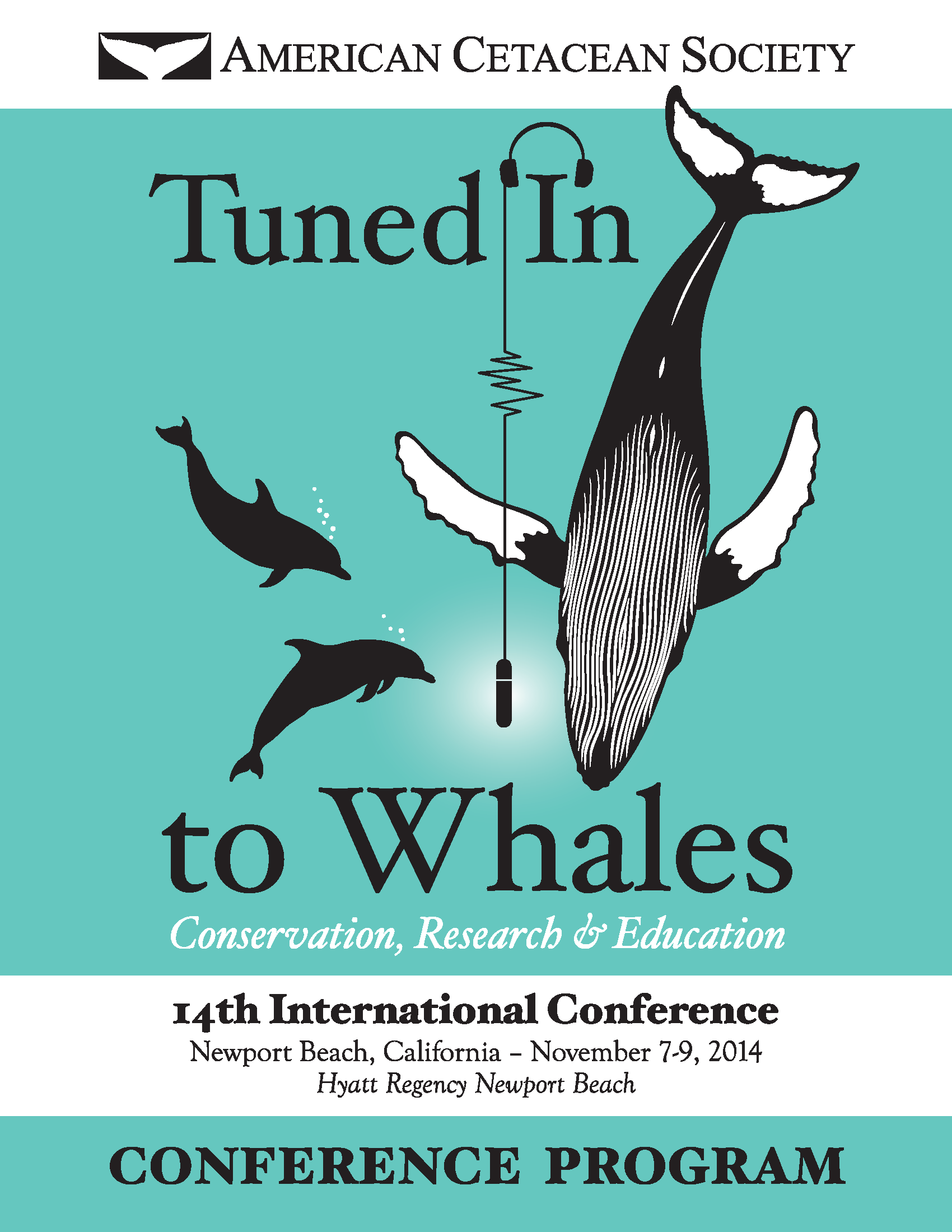 Front Cover Of 2014 Conference Program: Tuned In To Whales